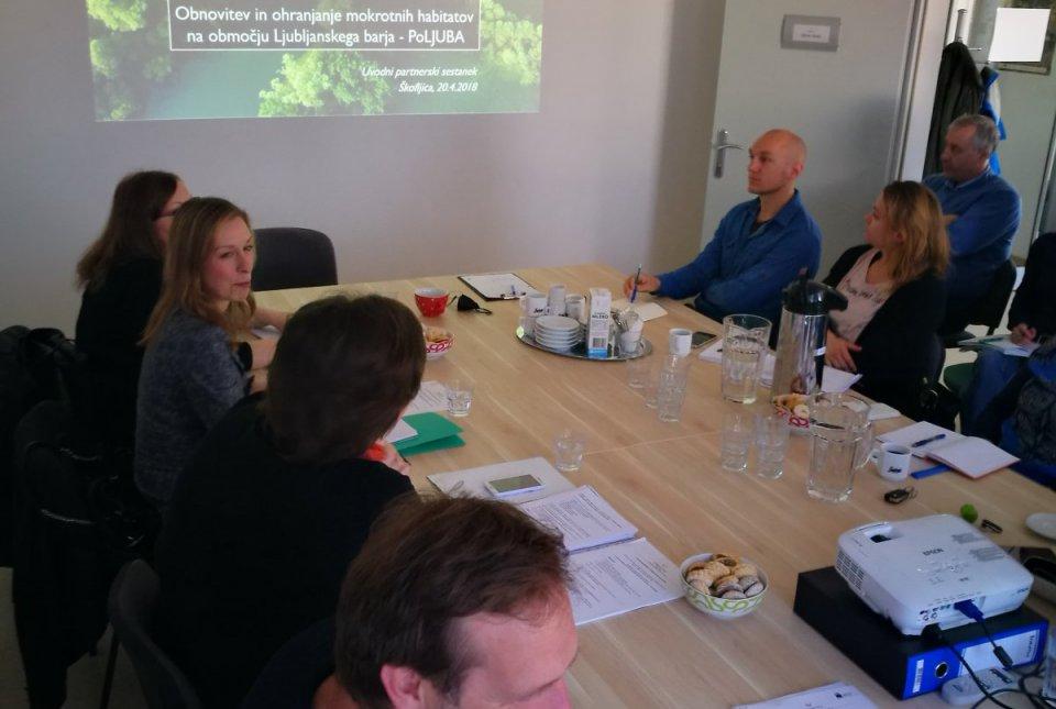Uvodni sestanek projektne skupine PoLJUBA