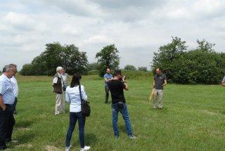 Udeleženci novinarske konference so si ogledali del območja izvajanja projekta