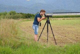Ekipa PoLJUBA z novim sodelavcem – varstvenim ornitologom