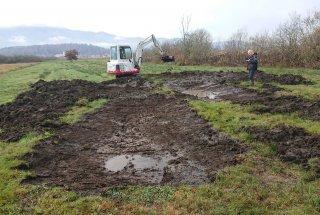 Med gradnjo je potekal tudi arheološki nadzor.
